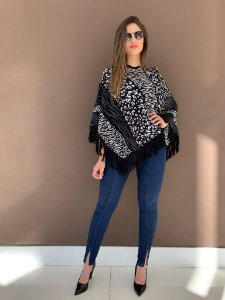 Poncho Mix Animal Print