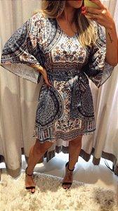 Vestido Kimono Estampado - Absolutti