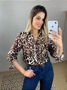 Camisa Animal Print Serena