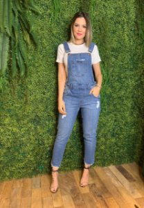 Jardineira Jeans Lisandra