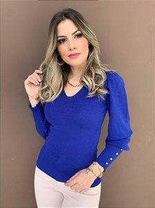 Blusa Tricô Nívea Azul
