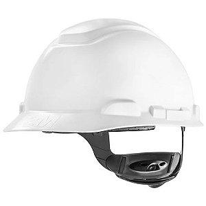 Capacete de Segurança 3M™ H-700 Branco - Suspensão Com Catraca - Sem Vent - Sem Refletivo