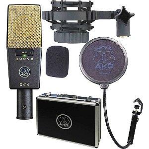 Microfone Akg C414 Xl II Kit Completo