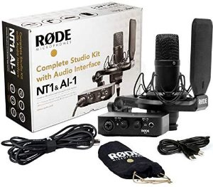 Kit Rode NT1&Al-1 Microfone + Interface Completo