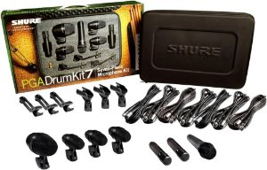 Microfone Profissional Shure Pgadrumkit7 Para Bateria Com 7 Peças