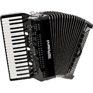 Acordeon Roland Elétrico Fr4x Sanfona Fr-4x Bk Oficial Roland