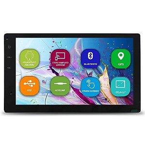 Central Multimidia Automotivo 2 Din 6.2 Pol H-Tech HMA-8010 Universal Android GPS Tv Digital Dvd Espelha Android Ios