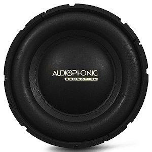 Subwoofer 10 Polegadas Audiophonic 200w Rms 400w Pico Sensation S1-10 2 Ohms 4 Ohms Bobina Simples Grave
