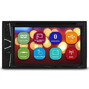 Dvd Player Automotivo 2 Din 6.2 Polegadas Pioneer AVH-G228BT Bluetooth Espelhamento Android Usb Comando Som Volante Aux