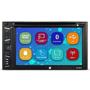 Dvd Player Automotivo 2 Din 6.2 Polegadas Dazz DZ-52838 Bluetooth Espelhamento Android Usb Aux Sd Card Radio Fm Full Hd