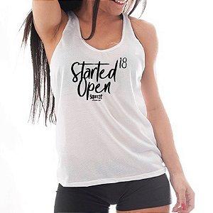 Camiseta Regata - Started Open18 - Feminina Branca