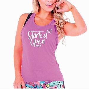 Camiseta Regata - Started Open18 - Feminina Rosa