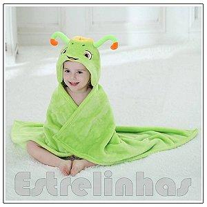 Cobertor c/ Capuz - Bichinho Verde