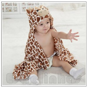 Cobertor c/ Capuz - Girafinha