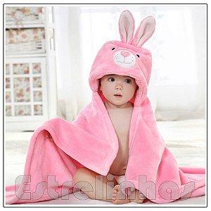 Cobertor c/ Capuz - Coelhinho