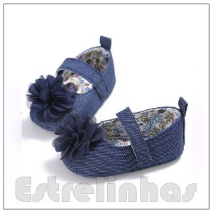Sapatinho Flor Azul
