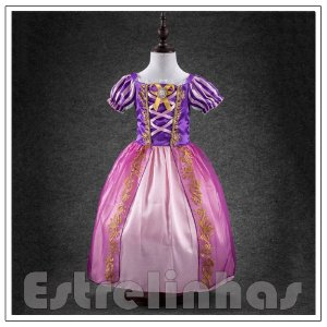 Vestido Princesa Rapunzel