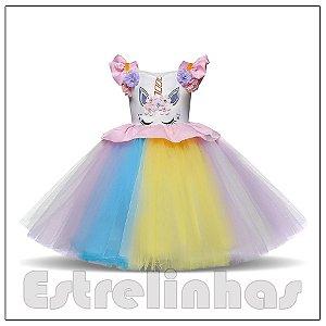 Vestido Princesa dos Unicórnios