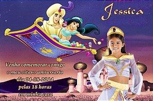 Convite digital personalizado Aladdin 008