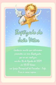 Convite digital personalizado Anjos 009