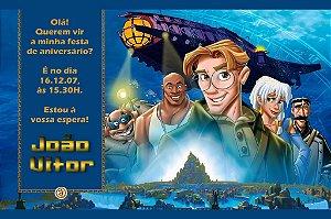 Convite digital personalizado Atlantis - O Reino Perdido 001
