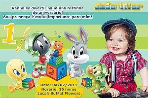 Convite digital personalizado Baby Looney Tunes 008