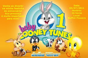 Convite digital personalizado Baby Looney Tunes 009