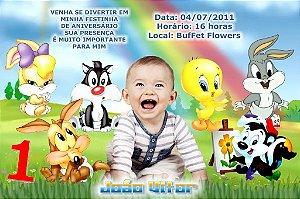 Convite digital personalizado Baby Looney Tunes 011