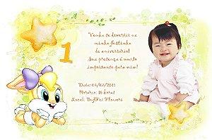 Convite digital personalizado Baby Looney Tunes 012
