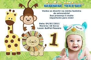 Convite digital personalizado Baby Zoo 003