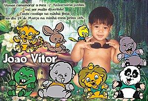Convite digital personalizado Baby Zoo 004