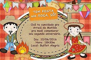Convite digital personalizado Festa Junina 001
