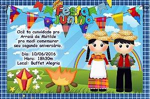 Convite digital personalizado Festa Junina 002
