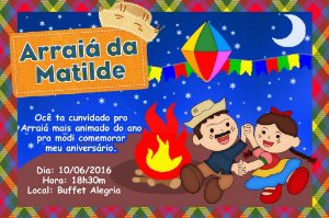 Convite digital personalizado Festa Junina 003