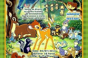 Convite digital personalizado Bambi 001