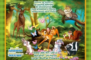 Convite digital personalizado Bambi 002