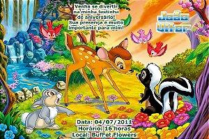Convite digital personalizado Bambi 003