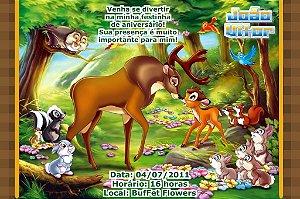 Convite digital personalizado Bambi 004