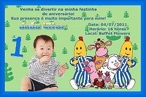 Convite digital personalizado Bananas de pijamas 001