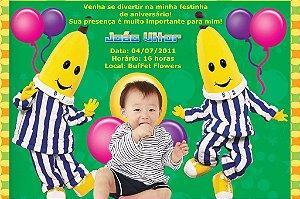 Convite digital personalizado Bananas de pijamas 002