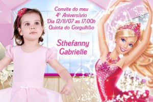 Convite digital personalizado da Barbie 006