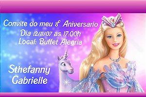Convite digital personalizado da Barbie 008