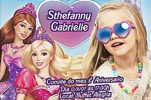 Convite digital personalizado da Barbie 010