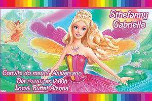 Convite digital personalizado da Barbie 029