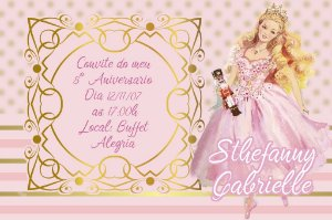 Convite digital personalizado da Barbie 031