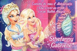 Convite digital personalizado da Barbie 037