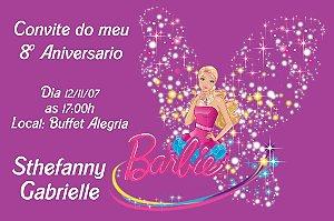 Convite digital personalizado da Barbie 038