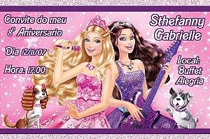 Convite digital personalizado da Barbie 039