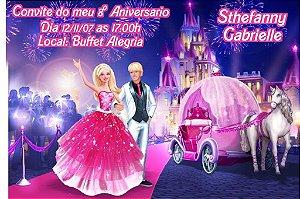 Convite digital personalizado da Barbie 041