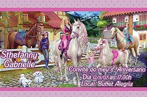 Convite digital personalizado da Barbie 043